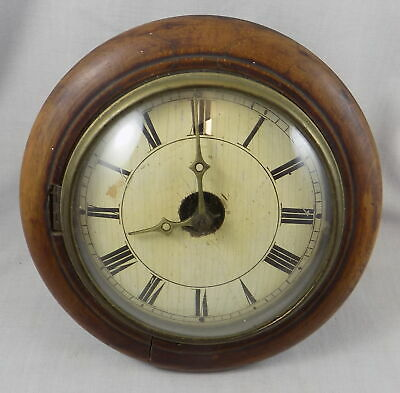 Early Small Black Forest Postmans Alarm Clock With Domed Glass - Spares, Repair
