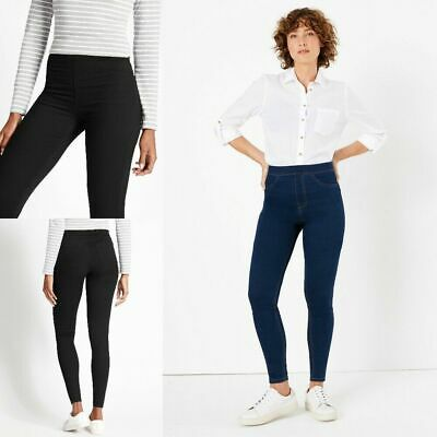 B66 RRP £16 M/&S Collection Navy High Waist Leggings