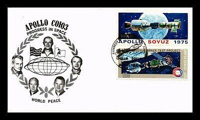 Dr Jim Stamps Us Apollo Soyuz Link Up Space Progress Event Cover Combo
