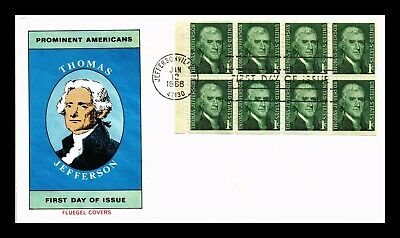 Dr Jim Stamps Us Thomas Jefferson Fluegel First Day Cover Booklet Pane