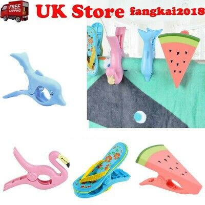 Plastic Sun Lounger Beach Towel Wind Clips Sunbed Pegs Pool Towel Clips