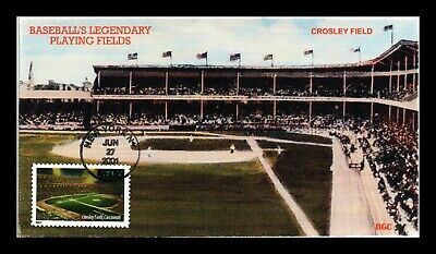 Dr Jim Stamps Us Crosley Legendary Baseball Playing Fields All Over Fdc Cover