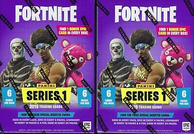 (2) 2019 Panini FORTNITE Online Game Trading Card New Sealed 36c BLASTER Box LOT