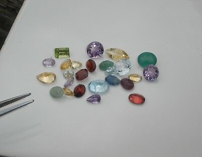 Natural Gemstone Mixed Faceted Loose Parcel Lot 23 Total Carats