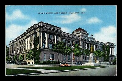 Dr Jim Stamps Us Public Library Museum Milwaukee Wisconsin Postcard