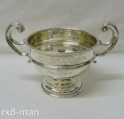 1930 Rare Solid Sterling Silver Trophy Cup Presented By Hrh The Prince Of Wales