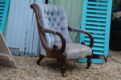 Antique Victorian Country House Library Armchair William IV Armchair Rustic Chic