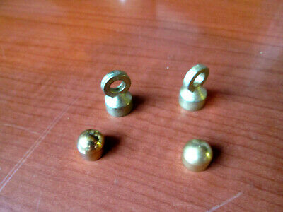Lot of 2 pair BRASS Grandfather Clock Weight Hooks & Nibs (414V)