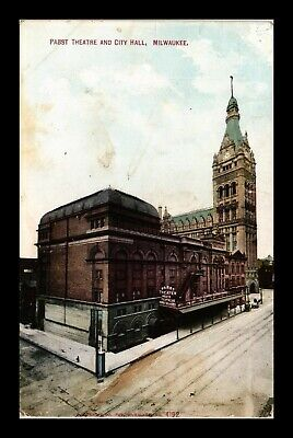 Dr Jim Stamps Us Pabst Theatre City Hall Milwaukee Wisconsin Postcard