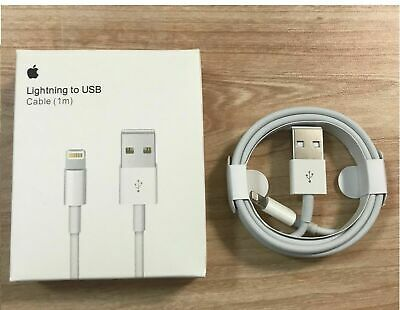 100% GENUINE & ORIGINAL OFFICIAL Apple iPhone X/8/7/6S/6+/5S Charger USB Cable
