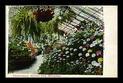 Dr Jim Stamps Us Conservatory Mitchell Park Milwaukee Wisconsin Postcard