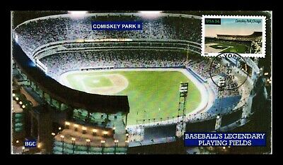 Dr Jim Stamps Us Comiskey Park Baseball Playing Field First Day All Over Cover