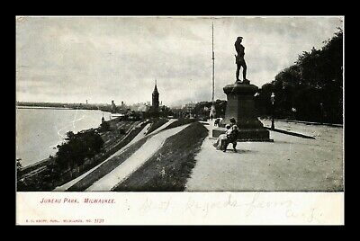 Dr Jim Stamps Us Juneau Park Lake View Milwaukee Wisconsin Postcard
