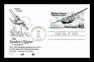 Dr Jim Stamps Us Yankee Clipper Flying Boat Air Mail First Day Postal Card