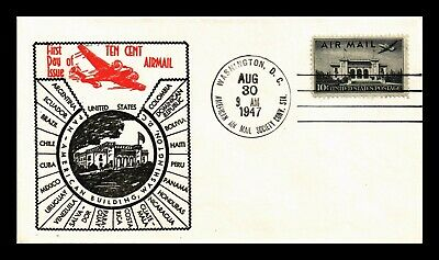 Dr Jim Stamps Us 10C Pan American Building Air Mail Fdc Cover Aams Event C34