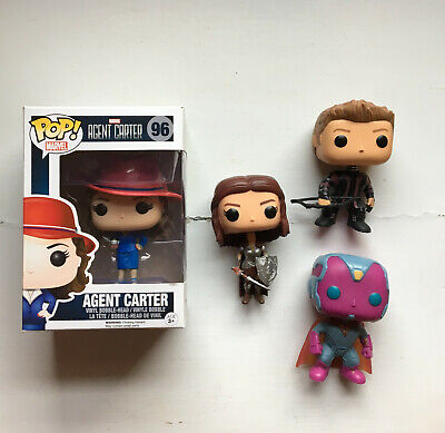 Funko Pop! Marvel: Peggy Carter Hawkeye Lady Sif and Vision lot