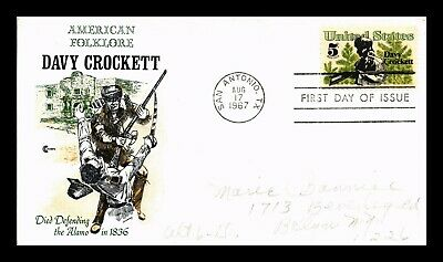 Dr Jim Stamps Us American Folklore Davy Crockett First Day Cover Craft