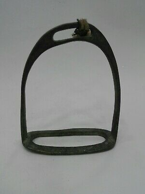 Horse Iron Antique Primitive Cast Vintage Saddle Stirrup Rustic Riding Hand Made
