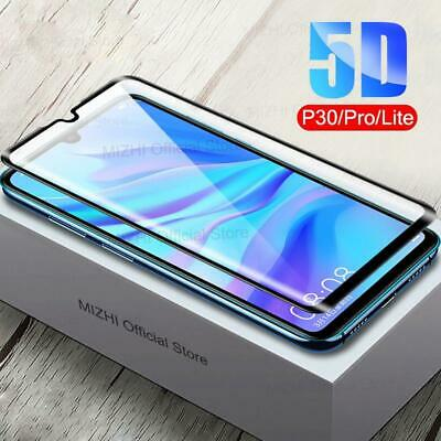 Huawei P20 P30 Lite Pro Genuine Full 9D Tempered Glass 9H Screen Protector Cover