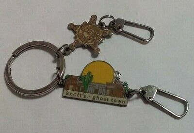 Knotts Berry Farm Key-Ring Charms One Deputy Sheriff Badge & Knott's ghost town