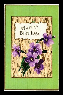 Dr Jim Stamps Us Flowers Happy Birthday Embossed Topical Greetings Postcard