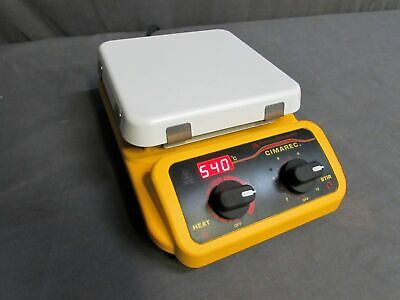 "TESTED Barnstead Thermolyne Cimarec SP131325 7""x 7"" Hot Plate Magnetic Stirrer"