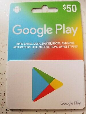 Google Play Gift Card 50$ CA Only (1 hour or less delivery)