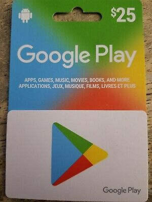 Google Play Gift Card 25$ CA Only (1 hour or less delivery)