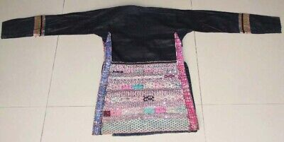 Tribal chinese minority people's old hand embroidery local cloth costume jacket