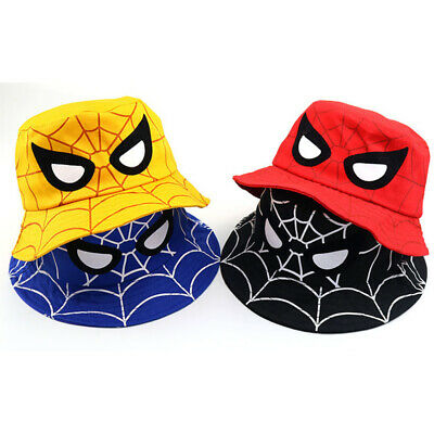 Kids Children Spiderman Bucket Summer Toddler Sun Hat Casual Travel Cap Unisex