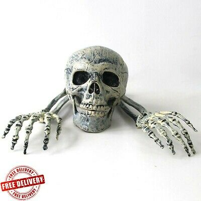 Skull Skeleton Tomb Tombstone With RIP Letters Halloween Garden Decorations