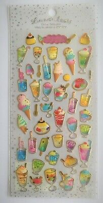 Lovely Kawaii Sweets Juice 3D Vinyl Sticker Drink Pudding Ice Cream Fruits JAPAN