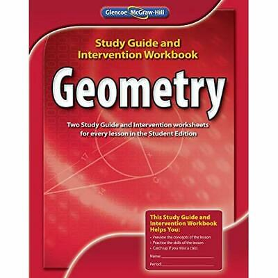 Geometry, Study Guide and Intervention Workbook (Merril - Paperback NEW McGraw-H