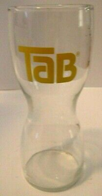Tab Soda Pop Glass - Hourglass Shaped Drinking Tumblers -1970s
