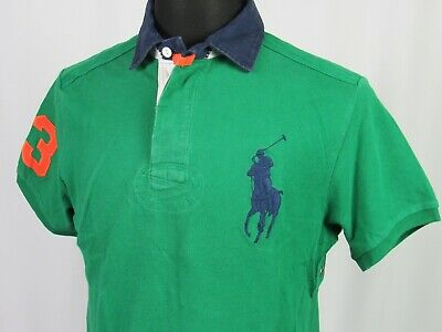 Men's Polo Ralph Lauren Short Sleeved Big Pony Pique Golf Shirt Custom Medium