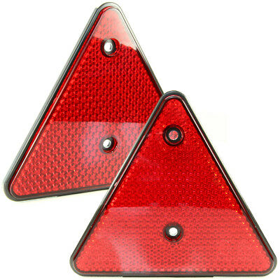 2x Reflector Triangle Reflector Rear Red Reflector Pendant Lorry E-Certified R1
