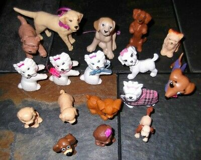 Barbie Ken Doll PETS ANIMALS - 16pc SET of DOGS & PUPPIES
