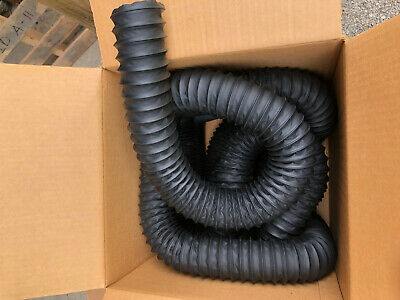 "Air Duct Flex Hose with Wire - 2 1/2"" Black - 25'"