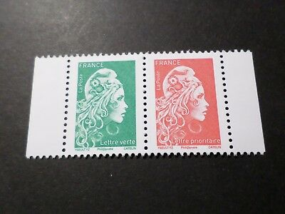 FRANCE, 2018, PAIRE timbres neuf** MARIANNE ENGAGEE CARNET, MNH STAMPS
