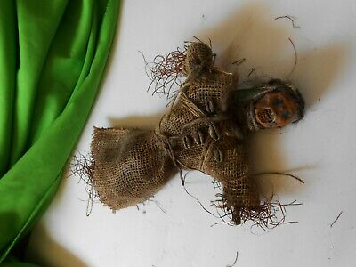 Voodoo Doll Tribal Shrunken Head #6 Shaman Skull Sideshow Gaff Halloween Pirate