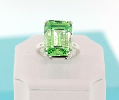TIFFANY & CO Sparklers Cocktail Green Quartz Ring Sterling Silver