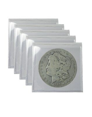 Pre 1921 Silver Morgan Dollar Cull Lot of 5 S$1 Coins *Credit Card Payment Only