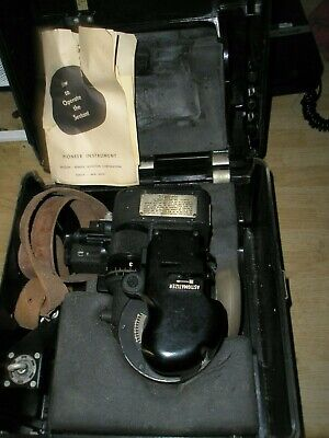 WWII Army Air Corps AN-5851-1 Bubble Type Averaging SEXTANT in bakelite case
