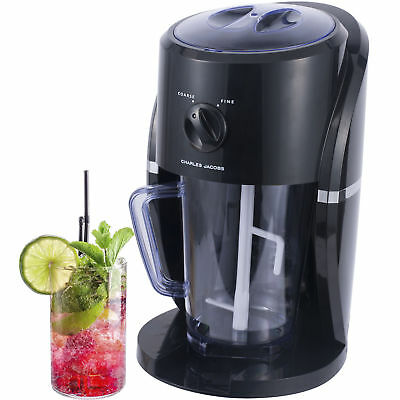 REBOXED Electric Ice Crusher Shaver Slushie Machine Snow Cone Smoothies in Black