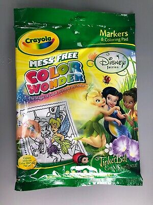 Crayola Color Wonder TINKERBELL & Fairies Coloring Pad Markers