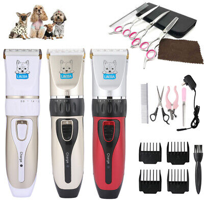 Professional Mute Pet Cat Dog Hair Clipper Trimmer Shaver Cordless Rechargeable