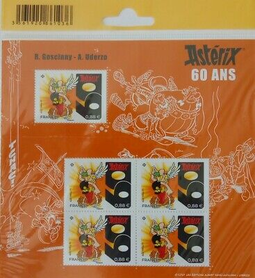 "France 2019  Bloc  "" 60 Ans Asterix ""  5 Timbres  Neufs **"