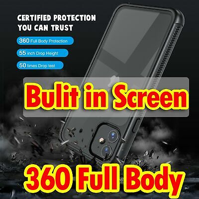360 Full Body Heavy Duty Drop Case Cover for iPhone 11 Pro XS Max XR X 7 8 Plus