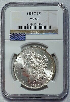 1883 O $1 US Morgan Silver Dollar Coin  (NGC MS63 MS 63) B0407