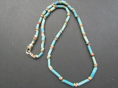 NILE  Ancient Egyptian Amullet Mummy Bead Necklace ca 600 BC